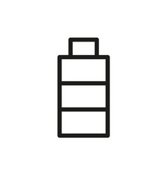 battery icon on white background vector image vector image
