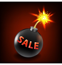 Black Sale Bomb vector image vector image