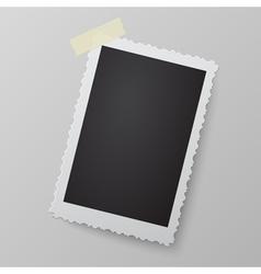 Blank photo frame looking like retro photograph vector
