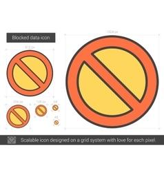 Blocked data line icon vector