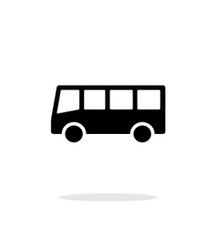 Bus simple icon on white background vector