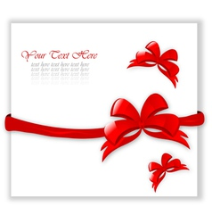 certificate with red bows vector image