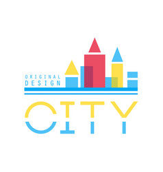 city building abstract logo design concept vector image vector image