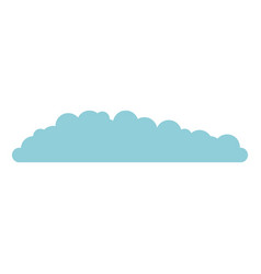 cloud in light blue and white background vector image