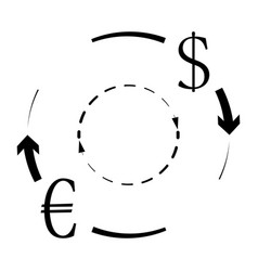 currency conversion euro dollar vector image