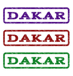 Dakar watermark stamp vector