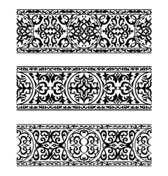 Decorative ornate vintage borders vector image
