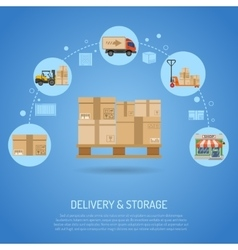 Delivery and storage concept vector image vector image