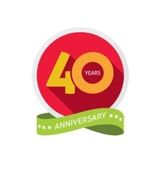 Forty years anniversary logo 40 year birthday vector image vector image