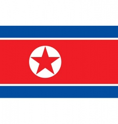 korea north flag vector image
