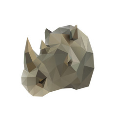 low poly rhino vector image