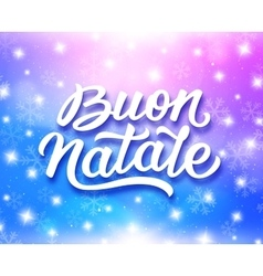 Merry Christmas typography in italian vector image