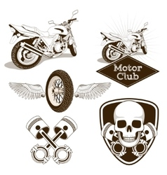 Motorcycle club logo emblem vector image