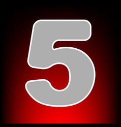 Number 5 sign design template element postage vector