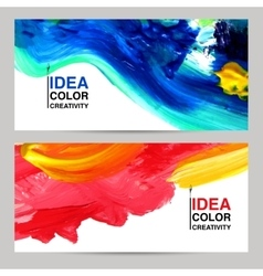 Paint Banner Set vector image vector image