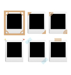 polaroid frames vector image vector image