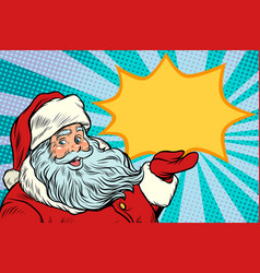 santa claus promotinal copy space vector image vector image