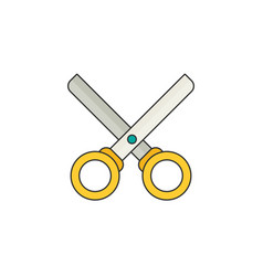 scissors flat vector image