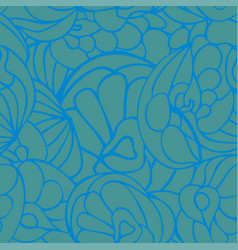 seamless art pattern blue green color vector image