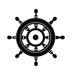 Wooden ship wheel icon vector