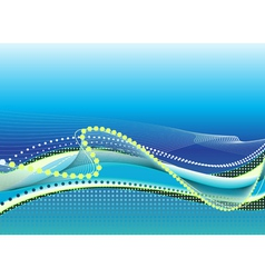 Abstract light blue background with waves vector image
