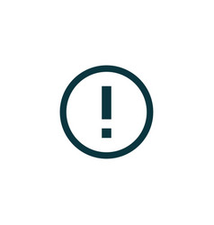 Warning icon simple vector