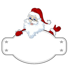 santa claus with blank sign vector image