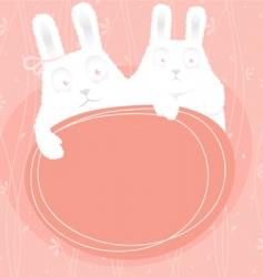 Rabbits banner vector