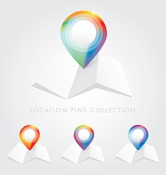 Location map pointer icon collection vector