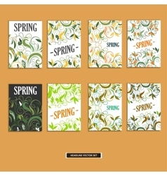 Set of beautiful spring prints for design vector