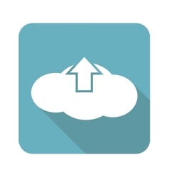 Square cloud upload icon vector