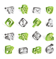 Online shop icons vector