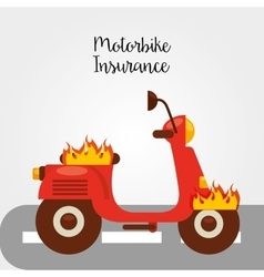 Motorcycle insurance vector