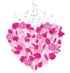 Heart flower vector