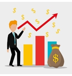 Business profit growth up vector