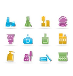 Cosmetic industry and beauty icons vector