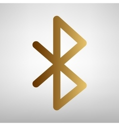 Bluetooth sign flat style icon vector