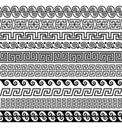 Set of brushes to create the greek meander vector