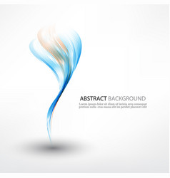 Abstract background blue and green waved vector