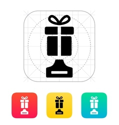 Best gift icon on white background vector