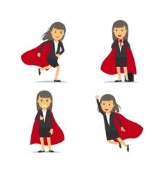 Businesswoman superhero vector image