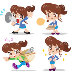 Cartoon character woman vector