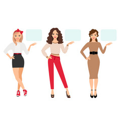 casual fashion woman presentation vector image vector image