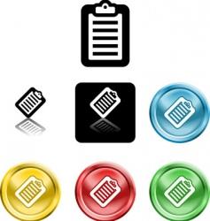 clipboard icon symbol vector image vector image