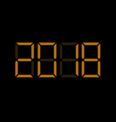 electronic digital numbers 2018 vector image