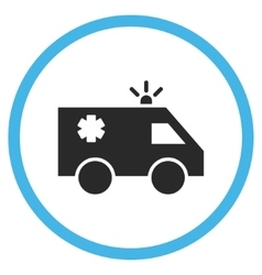 Emergency Car Flat Rounded Icon vector image