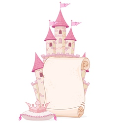 Fairy tale theme parchment vector