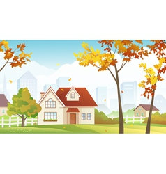 Fall suburb vector