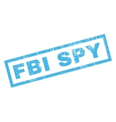 Fbi spy rubber stamp vector