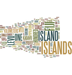 Fiji islands text background word cloud concept vector